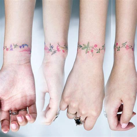 tattoo flower bracelet flower bracelet tattoo