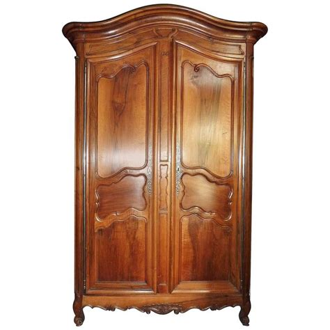 large wardrobe armoire french large walnut wardrobe armoire 18th century for