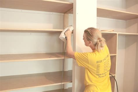 Installing Wood Shelves In Closet by Easy Diy Wall To Wall Closet