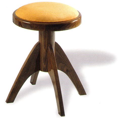 Adjustable Wooden Piano Stool by A Adjustable Piano Stool With Four Legs By Tozer
