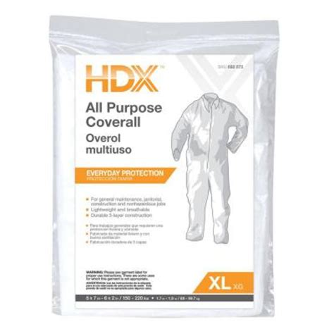 home depot paint coveralls hdx large all purpose coverall 14153 12hd the home