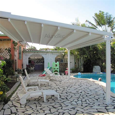 Pergola With Retractable Awning by Waterproof Pvc Retractable Awning Pergola Systems Buy