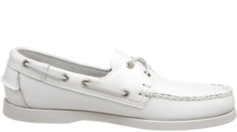 sebago mens docksides boat shoe in white for lyst
