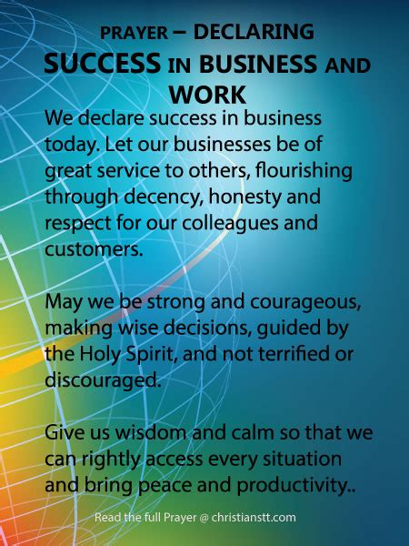 was thanksgiving a success quiz prayer declaring success in business and work