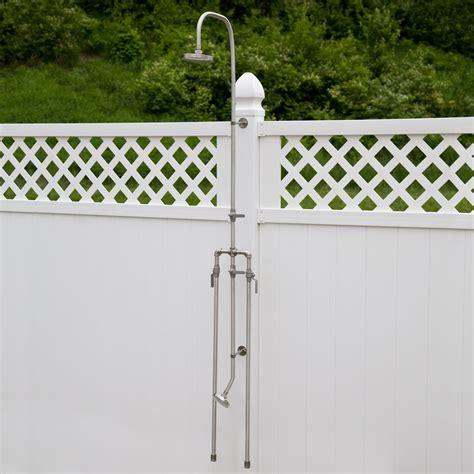 outdoor showers deluxe outdoor shower mixer with foot shower outdoor