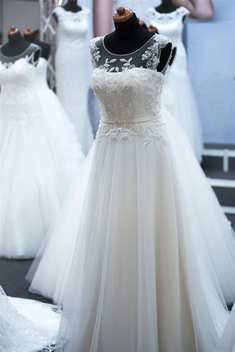 White Wedding Gown Shopping by Free Images White Shop Shopping Wedding Dress