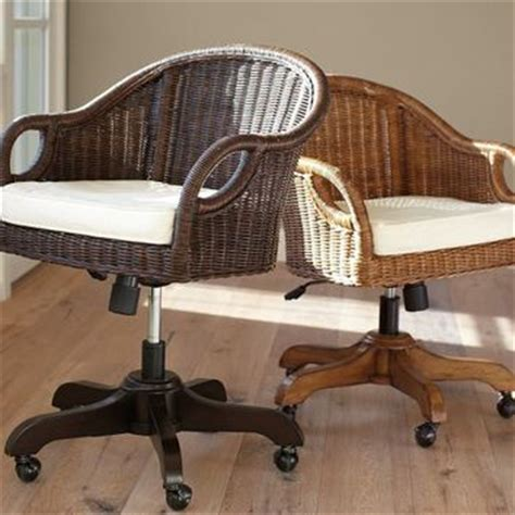 rattan swivel desk chair wingate rattan swivel desk chair from pottery barn home