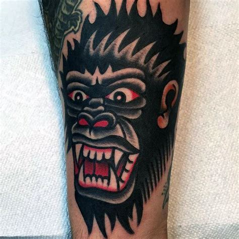 traditional gorilla tattoo 1000 images about tattos on traditional