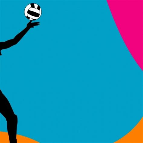 powerpoint themes volleyball colorful volleyball ball backgrounds clipart panda