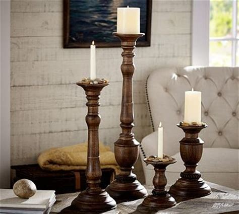 Candle Holders For Large Candles Oxford Wood Pillar Candle Holder Large Traditional