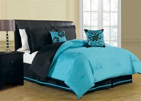 black and turquoise bedding 6 piece queen haper reversible comforter set turquoise