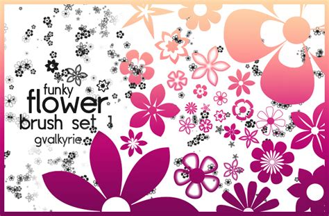 flower brush flower brush set 1 by gvalkyrie on deviantart