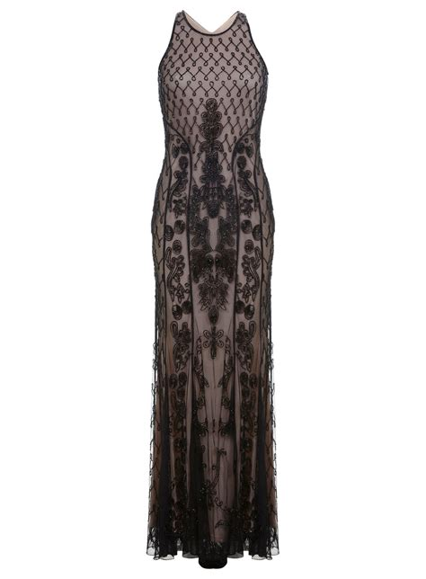 Deco Beaded Maxi Dress Miss Selfridge
