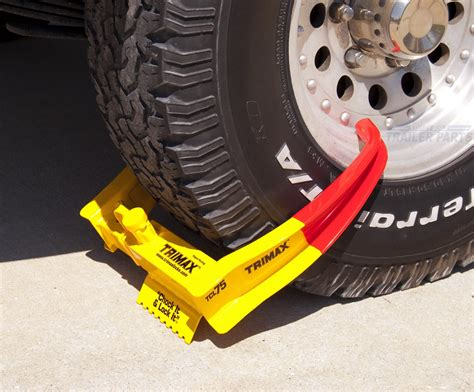 boat trailer tires get hot trimax trailer wheel lock chock security boot cl tcl75