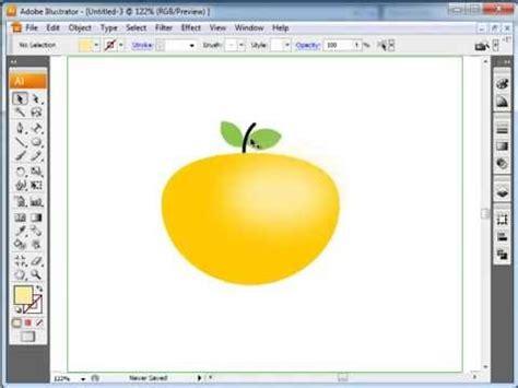 illustrator tutorial orange illustrator tutorial how to draw orange youtube