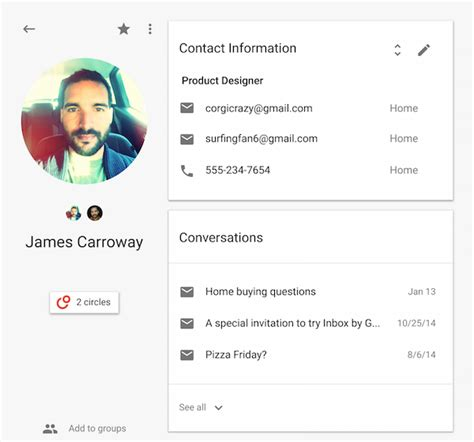 bootstrap 4 ui design system bypeople google tests new contacts interface