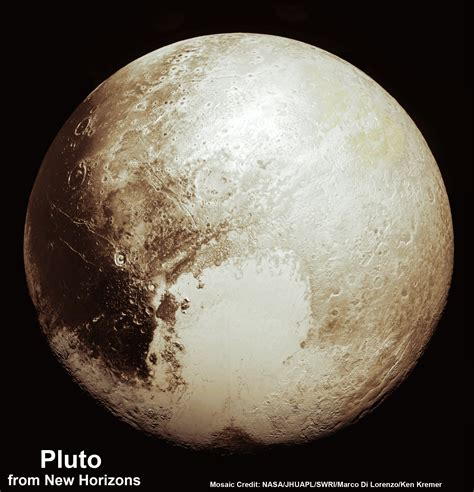 new images of pluto this new global mosaic view of pluto was created from the