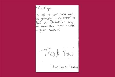 work thank you note thank you notes 187 my student in need