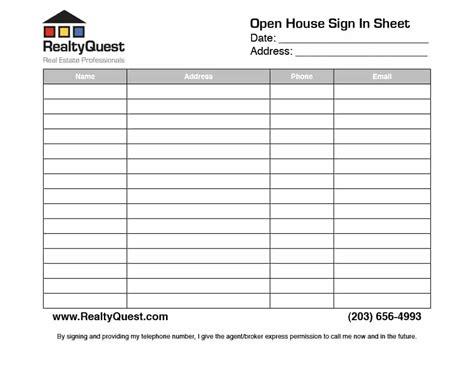 realtor open house sign in sheet template 30 open house sign in sheet pdf word excel for real