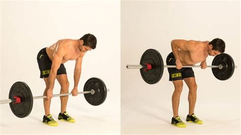 bench over row free weight exercises a barbell complex for your lunch