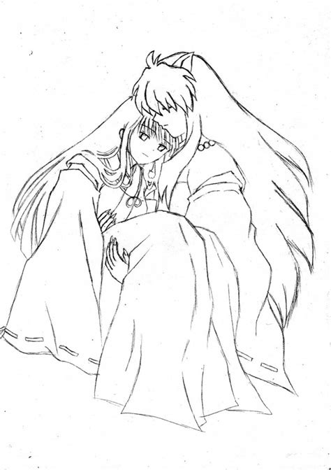 coloring sheets free printable inuyasha coloring pages for