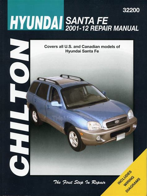 service and repair manuals 2008 hyundai santa fe engine control hyundai santa fe repair manual 2001 2012 chilton 32200