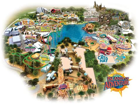 islands of adventure map orlando city review travel observers