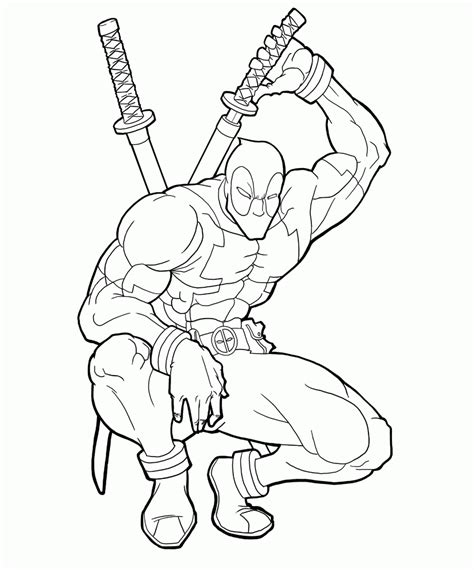 deadpool coloring pages pdf deadpool coloring page coloring home