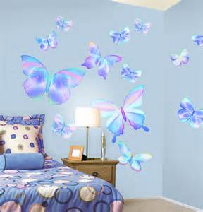 How To Stick Wall Stickers Fluttering Butterfly Peel And Stick Wall Mural In