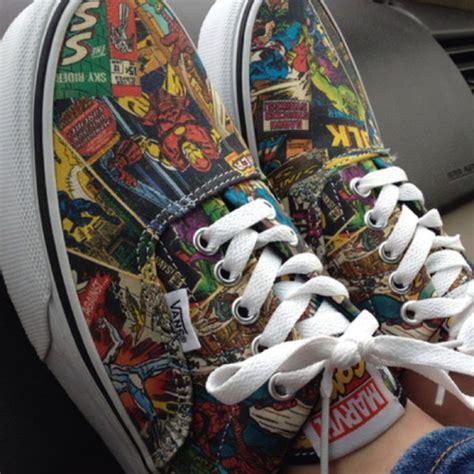Vans Marvels Comic vans era marvel comic skate shoe black journeys shoes