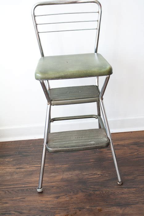 Kitchen Step Stool Chair by Vintage Cosco Kitchen Chair Step Stool Green By Thespringfox