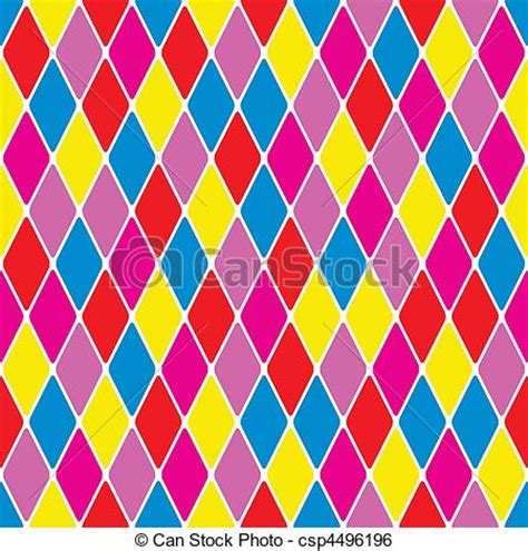 drawing harlequin pattern clip art vector of harlequin parti coloured seamless