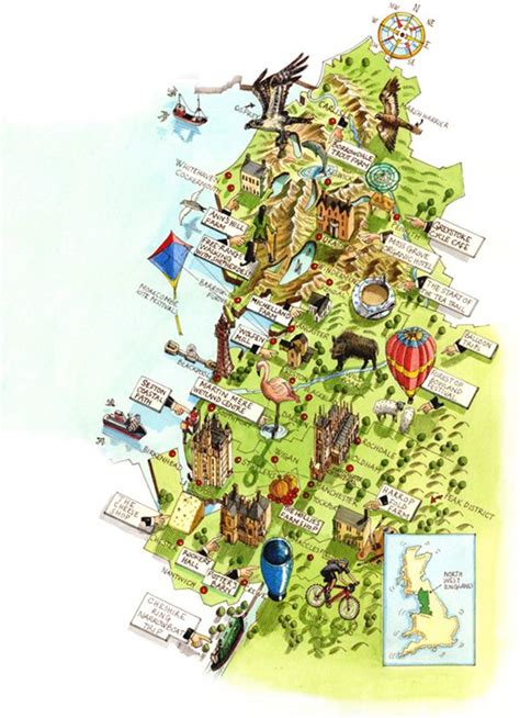 uk map illustrations  katherine baxter mapping west
