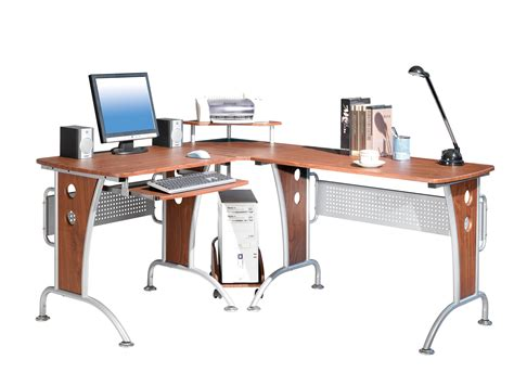 Modern Office L Shape Desk In Desks And Hutches Modern L Shaped Office Desk
