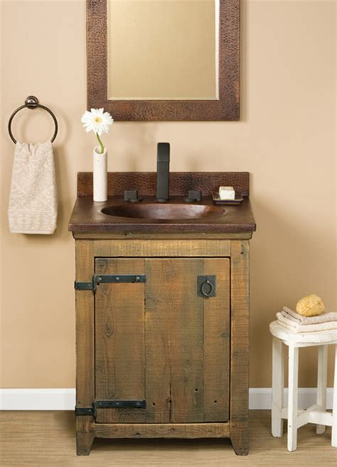 bathroom farm sink vanity trails 24 quot americana vanity in chestnut farmhouse