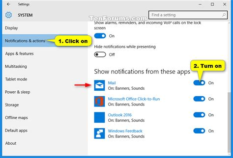 windows 10 mail app tutorial turn on or off notifications from mail app in windows 10