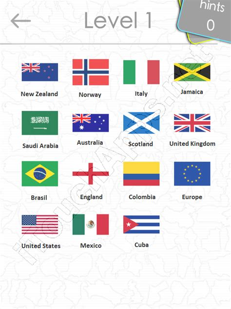 flags of the world quiz level 2 flags quiz answers level 1 part 2