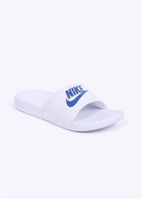 white nike sandals for nike benassi jdi sandals white blue