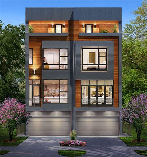 Townhouse Duplex Plans by Duplex Townhouse Plan E4050