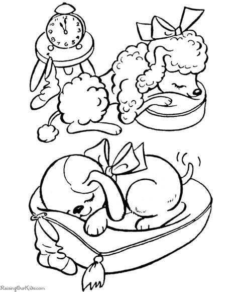 christmas coloring pages of puppies 010 coloring pages dogs gif 670 215 820 window splash