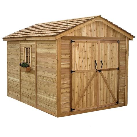 outdoor sheds outdoor living today spacemaker 8 ft x 12 ft western red