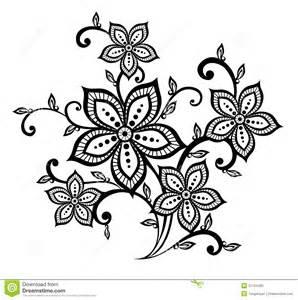 elemento blanco y negro hermoso del dise 241 o del estampado