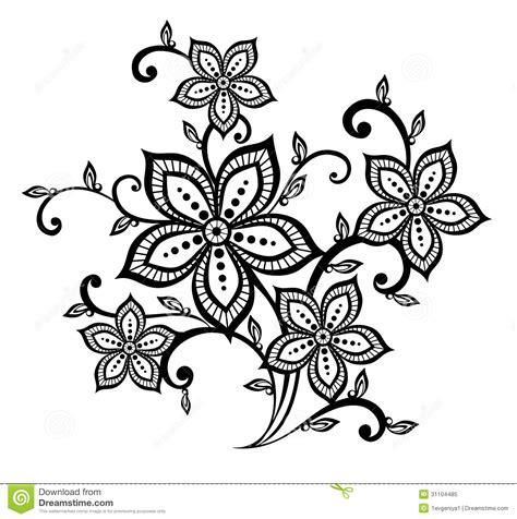 imagenes en blanco y negro de flores elemento blanco y negro hermoso del dise 241 o del estado