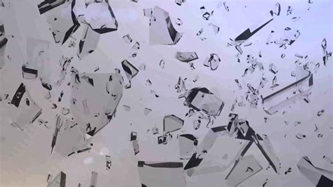 Glass Pieces glass pieces shattered to text intro 3ds max after