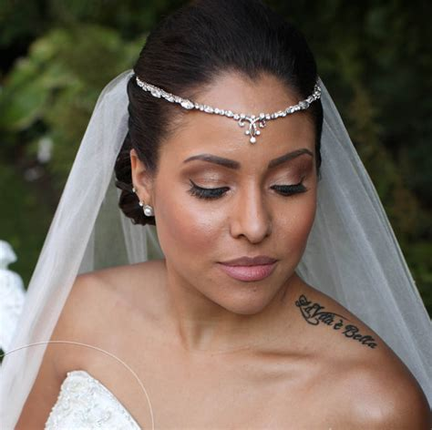 Wedding Hairstyles With Headbands And Veils by Bridal Forehead Band Bridal Headband Rhinestone Hair