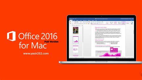 Ms Office Untuk Macbook microsoft office 2016 v16 11 vl macosx yasir252