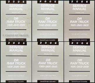 best auto repair manual 2006 dodge ram 3500 2006 dodge ram truck repair shop manual 6 volume set original