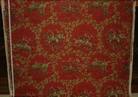 equestrian upholstery fabric red horse toile fabric equestrian fabric 06 august 2015