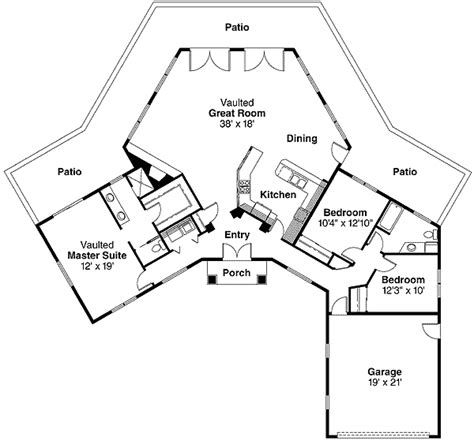 hexagon house plans hexagon with wings 72311da architectural designs
