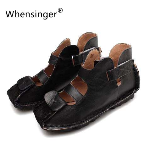 Whensinger 2017 Leather Shoes Handmade - whensinger 2017 gladiator sandals summer shoes